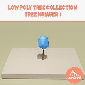 tree cartoon ready 3D model