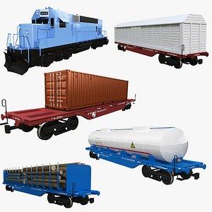 3D Railcar Collection 2