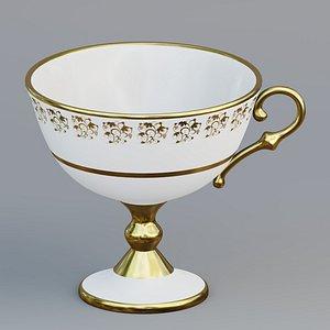 3D High footed teacup