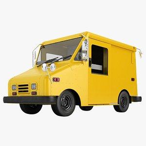 3D mail truck model