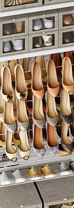 3D Shoe rack model