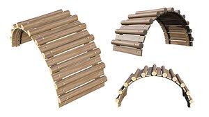 3D Playground Wooden Logs