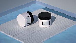 3D Sunscreen Beauty Skin Care Cosmetics Oil Oil Face Cream Rouge Hand Cream Antifreeze Cream Cosmetics model