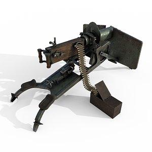 3D model maschinengewehr 08 gun
