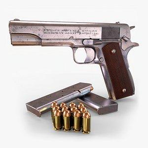Colt 1911 GameReady 3D model