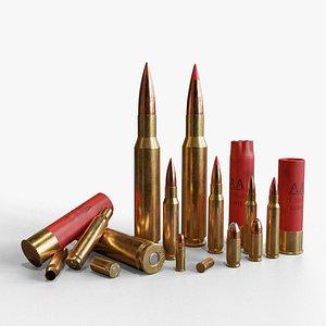 3D model ammunition