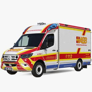 ASB Mercedes Sprinter Ambulance Simple Interior model