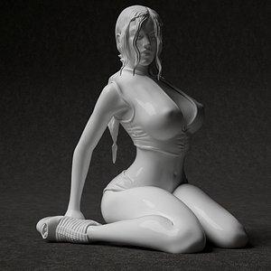 3D Woman model 3d printable