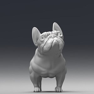 french bulldog print 3D model