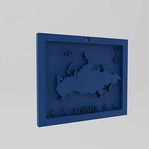 Russia-Rossiya Map Print 3D model