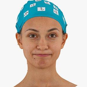 3D model joy human head cheek