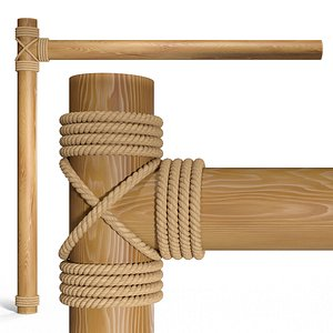 Beams with rope 3D