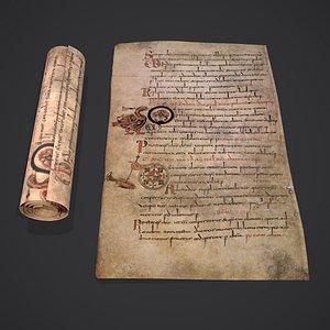 Scroll and Paper of Sacramentaire de Gellone model