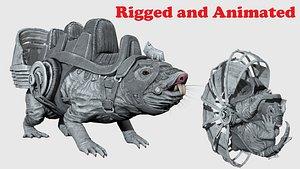 mole rat 3D model