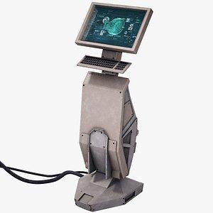 3D sci-fi terminal