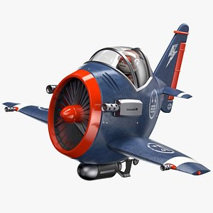 3D model airplane toy aircraft