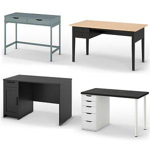 3D model IKEA Desks set 1