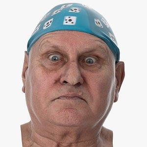 Homer Human Head Eyes Crossed AU66 Clean Scan 3D model