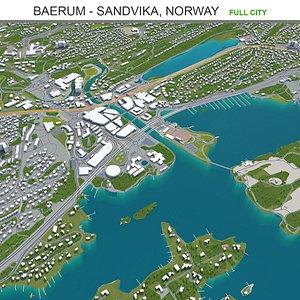 Baerum  Sandvika Norway 3D model