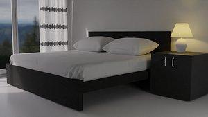 3D model Ikea Malm Bed