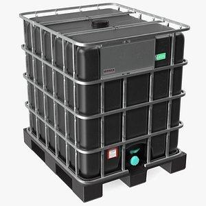 3D Kruizinga IBC Fluid Container 1000 Litre Plastic Pallet