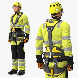 High Altitude Worker Standing Pose 3D