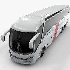 3D model shuttle bus airfrance