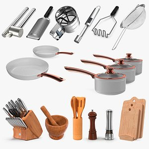3D model kitchenware 8 kitchen equipment