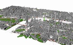 town structure cityscape model