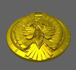 pendant eagle 3D model