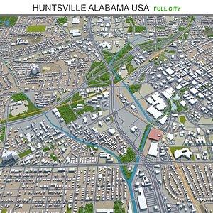 3D model Huntsville Alabama USA
