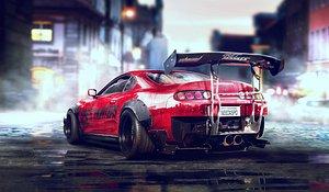 toyota supra car racing 3D model