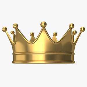 3D crown king cartoon
