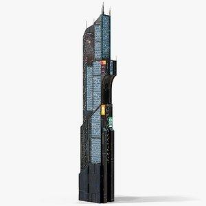 3D Sci-Fi Futuristic Skyscraper PBR 11