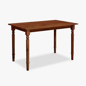 Wood Dining  Table Modern 3D model