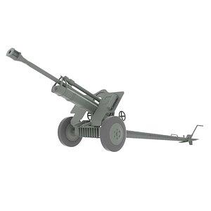 artillery piece 2 3D model