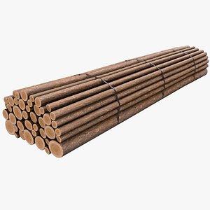 3D Wood Logs v3 with PBR 4K 8K