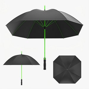3D model Rectangular automatic umbrella