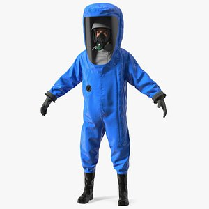Fully Encapsulating Chemical Protection Suit T-Pose 3D model