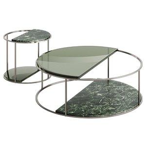 3D Fendi Boogie Circle Verde Alpi Marble model