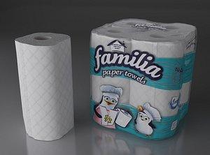 3D paper 4 rolls