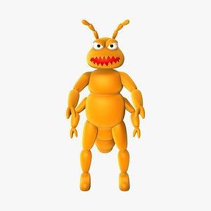 character louse 3D