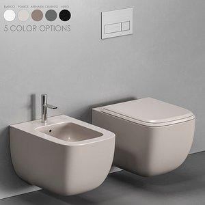 Cielo Shui Comfort Wall-hung WC 3D model