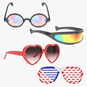 3D Party Sunglasses Collection 2 model