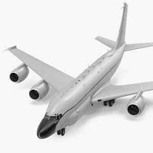 Boeing RC-135 Large Reconnaissance Aircraft Rigged 3D model