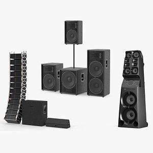3D model concert speakers 2