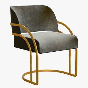 3D Dining Chair Gold Modern
