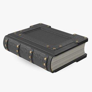 Ornate Book Closed Black 3D