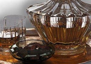 3D whiskey decanter model