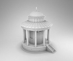 3D greek temple